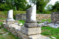 Καταστροφές σε Ulpia Traiana Αουγκούστα Dacica Sarmizegetusa Στοκ Εικόνα