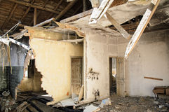 Καταστροφές σπιτιών Στοκ εικόνες με δικαίωμα ελεύθερης χρήσης
