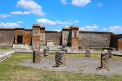 Καταστροφές στην Πομπηία μετά από να θαφτεί από το ηφαίστειο σε 79AD στην Ιταλία, Ευρώπη στοκ φωτογραφίες