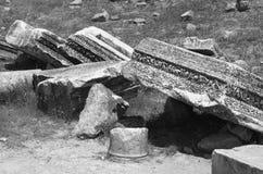 Καταστροφές στυλοβατών, Hierapolis στοκ εικόνα