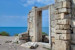 Καταστροφές της αποικίας Khersones αρχαίου Έλληνα Στοκ φωτογραφία με δικαίωμα ελεύθερης χρήσης