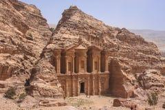 Καταστροφές της αρχαίας αραβικής πόλης Petra, Ιορδανία Στοκ Εικόνα