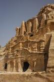 Καταστροφές της αρχαίας αραβικής πόλης Petra, Ιορδανία Στοκ εικόνα με δικαίωμα ελεύθερης χρήσης