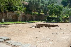 Καταστροφές της αρχαίας πόλης Ephesus, η πόλη αρχαίου Έλληνα στην Τουρκία, σε μια όμορφη θερινή ημέρα στοκ φωτογραφίες με δικαίωμα ελεύθερης χρήσης