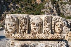 Καταστροφές της αρχαίας πόλης Myra στοκ εικόνες