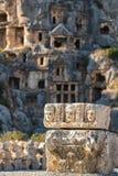 Καταστροφές της αρχαίας πόλης Myra στοκ φωτογραφίες με δικαίωμα ελεύθερης χρήσης
