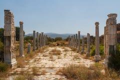Καταστροφές της αρχαίας πόλης Aphrodisias Στοκ φωτογραφίες με δικαίωμα ελεύθερης χρήσης