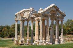 Καταστροφές της αρχαίας πόλης Aphrodisias Στοκ Φωτογραφίες