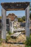 Καταστροφές της αρχαίας πόλης Aphrodisias Στοκ Εικόνες