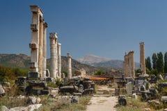 Καταστροφές της αρχαίας πόλης Aphrodisias Στοκ φωτογραφία με δικαίωμα ελεύθερης χρήσης