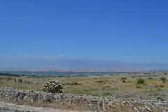 Καταστροφές της αρχαίας πόλης Hierapolis Στοκ φωτογραφίες με δικαίωμα ελεύθερης χρήσης