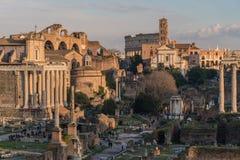 Καταστροφές της αρχαίας Ρώμης στοκ εικόνα