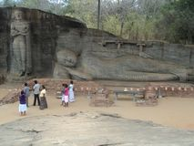 Καταστροφές της ιερής πόλης στη Σρι Λάνκα στοκ εικόνες
