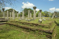 Καταστροφές της ιερής πόλης σε Anuradhapura, Σρι Λάνκα Στοκ Εικόνες