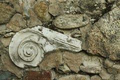 Καταστροφές της Μακεδονίας, Μπίτολα, Ηράκλεια Lyncestis, ιοντικό κεφάλαιο Στοκ Εικόνες