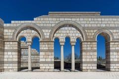 Καταστροφές της μεγάλης βασιλικής - μεγαλύτερος χριστιανικός καθεδρικός ναός στη μεσαιωνική Ευρώπη κοντά στη πρωτεύουσα της πρώτη Στοκ Εικόνα
