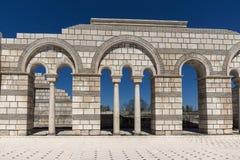 Καταστροφές της μεγάλης βασιλικής - μεγαλύτερος χριστιανικός καθεδρικός ναός στη μεσαιωνική Ευρώπη κοντά στη πρωτεύουσα της πρώτη Στοκ εικόνα με δικαίωμα ελεύθερης χρήσης
