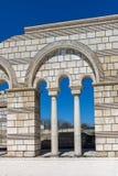 Καταστροφές της μεγάλης βασιλικής - μεγαλύτερος χριστιανικός καθεδρικός ναός στη μεσαιωνική Ευρώπη κοντά στη πρωτεύουσα της πρώτη Στοκ φωτογραφίες με δικαίωμα ελεύθερης χρήσης