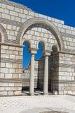 Καταστροφές της μεγάλης βασιλικής - μεγαλύτερος χριστιανικός καθεδρικός ναός στη μεσαιωνική Ευρώπη κοντά στη πρωτεύουσα της πρώτη Στοκ φωτογραφία με δικαίωμα ελεύθερης χρήσης