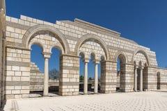 Καταστροφές της μεγάλης βασιλικής - μεγαλύτερος χριστιανικός καθεδρικός ναός στη μεσαιωνική Ευρώπη κοντά στη πρωτεύουσα της πρώτη Στοκ Εικόνες
