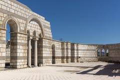 Καταστροφές της μεγάλης βασιλικής - μεγαλύτερος χριστιανικός καθεδρικός ναός στη μεσαιωνική Ευρώπη κοντά στη πρωτεύουσα της πρώτη Στοκ εικόνες με δικαίωμα ελεύθερης χρήσης