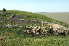 Καταστροφές της παλαιάς antic ελληνικής πόλης Argamum (Orgame) 7 Στοκ Εικόνες