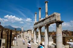 Καταστροφές της Πομπηίας, Ιταλία Στοκ Εικόνα