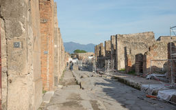 Καταστροφές της Πομπηίας - Ιταλία Στοκ φωτογραφία με δικαίωμα ελεύθερης χρήσης