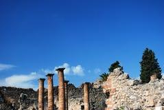 καταστροφές της Πομπηίας Στοκ εικόνες με δικαίωμα ελεύθερης χρήσης