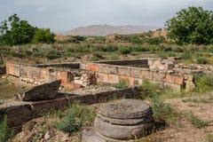 Καταστροφές της πρόωρης μεσαιωνικής πόλης Dvin στοκ φωτογραφία