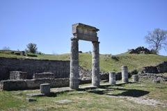 Καταστροφές της πόλης Panticapaeum, Prytaneion αρχαίου Έλληνα Στοκ Εικόνες