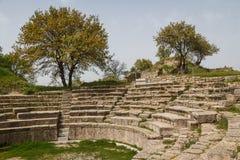 Καταστροφές της πόλης αρχαίου Έλληνα του τρόυ Στοκ Εικόνες