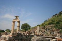Καταστροφές της πόλης Ephesus αρχαίου Έλληνα Στοκ Εικόνες