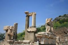Καταστροφές της πόλης Ephesus αρχαίου Έλληνα Στοκ Φωτογραφία