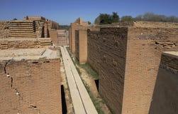 Καταστροφές της πύλης Ishtar σε Babylon, Ιράκ Στοκ φωτογραφία με δικαίωμα ελεύθερης χρήσης