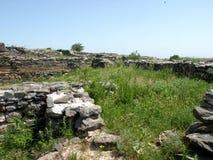 Καταστροφές της antic ελληνικής πόλης Histria Στοκ εικόνες με δικαίωμα ελεύθερης χρήσης