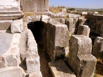 Καταστροφές της antic πόλης Milet, δευτερεύουσα Ασία, Τουρκία, ελληνική αποικία Στοκ Εικόνες