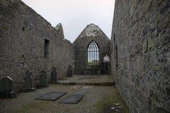 Καταστροφές του αβαείου Murrisk, κομητεία Mayo, Ιρλανδία Στοκ Εικόνες
