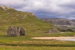 Καταστροφές του αγροκτήματος του Castle Ardvreck, Σκωτία Στοκ Φωτογραφίες