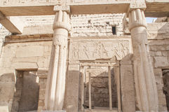 Καταστροφές του αρχαίου αιγυπτιακού ναού Στοκ Φωτογραφία