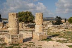 Καταστροφές του αρχαίου αδύτου Aphrodite σε Kouklia Στοκ εικόνα με δικαίωμα ελεύθερης χρήσης