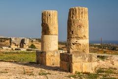Καταστροφές του αρχαίου αδύτου Aphrodite σε Kouklia Στοκ Εικόνες