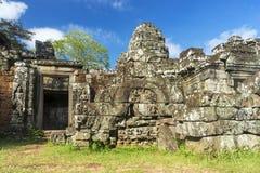Καταστροφές του αρχαίου ναού σε Angkor Καμπότζη Στοκ Φωτογραφίες