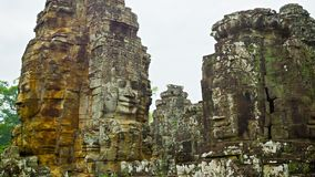 Καταστροφές του αρχαίου ναού σύνθετου Bayon. Angkor Thom, Καμπότζη απόθεμα βίντεο