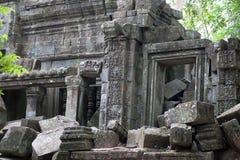 Καταστροφές του αρχαίου ναού Beng Mealea πέρα από τη ζούγκλα στην Καμπότζη Στοκ Εικόνα