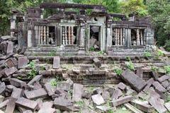 Καταστροφές του αρχαίου ναού Beng Mealea στην Καμπότζη Στοκ φωτογραφία με δικαίωμα ελεύθερης χρήσης