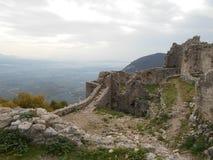 Καταστροφές του αρχαίου φρουρίου, Ελλάδα Στοκ Εικόνα