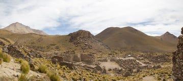 Καταστροφές του αρχαίου χωριού του San Antonio de Lipez στη Βολιβία Στοκ εικόνα με δικαίωμα ελεύθερης χρήσης