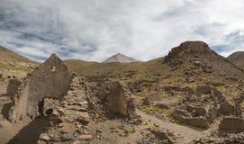 Καταστροφές του αρχαίου χωριού του San Antonio de Lipez στη Βολιβία Στοκ Εικόνες
