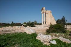 Καταστροφές του αρχαίων αδύτου απόλλωνα Hylates και του ναού, Κύπρος στοκ φωτογραφίες